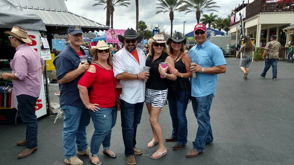 Group of friends in cowboy hats and cowboy hats for girls