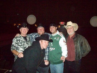 Colt Ford with our team in George, Kenny, and Jason Black