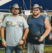 2 guys wearing the Julian cowboy hat from Gone Country