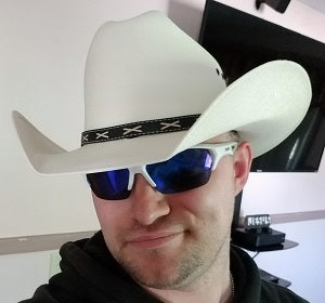 Customer in Brad cowboy hat - Gone Country Hats