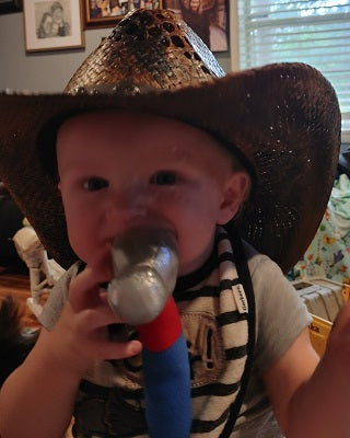 baby in Gone Country Hat