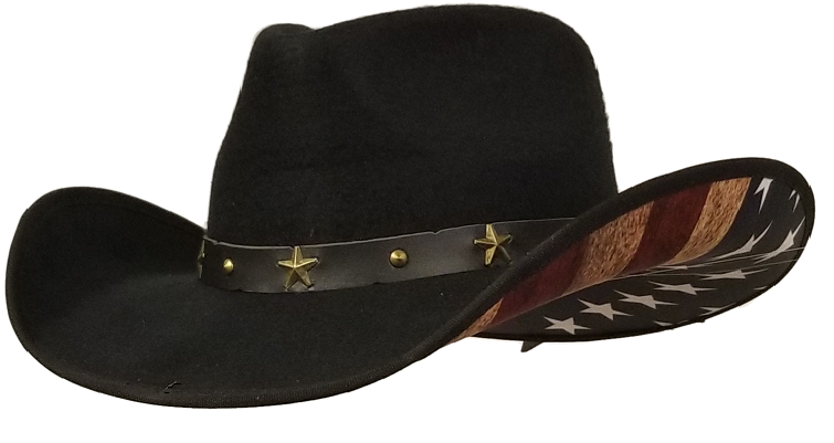 Patriot felt cowboy hat