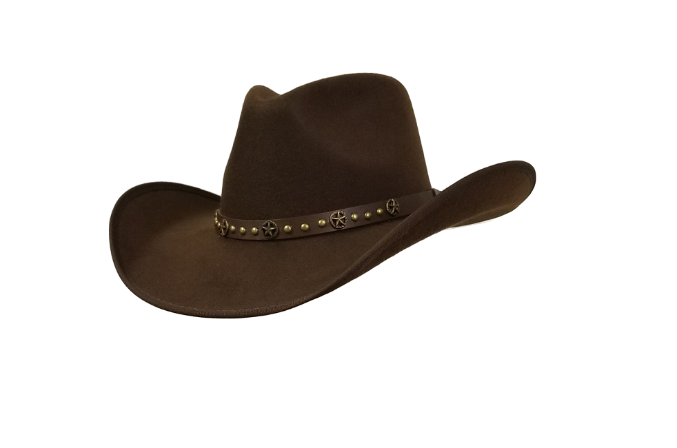 Our brown felt pinch cowboy hat is similar to Longmire's