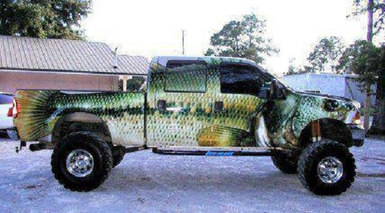 Somebody really loves fishing. Gone Country customers do too.
