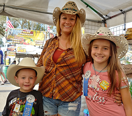 Family wearing country hats from Gone Country Hats