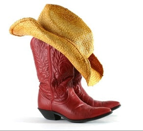 You can keep you cowboy hat in good shape by storing it on top of your boot.