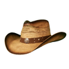 Brown vented bangora cowboy hat with Army band