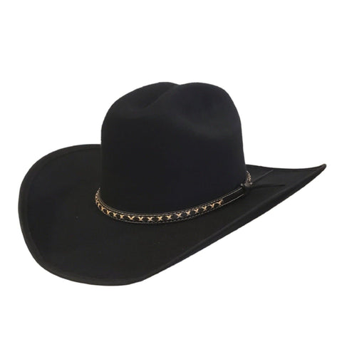 Black felt high quality cowboy hat. Gone Country Hats