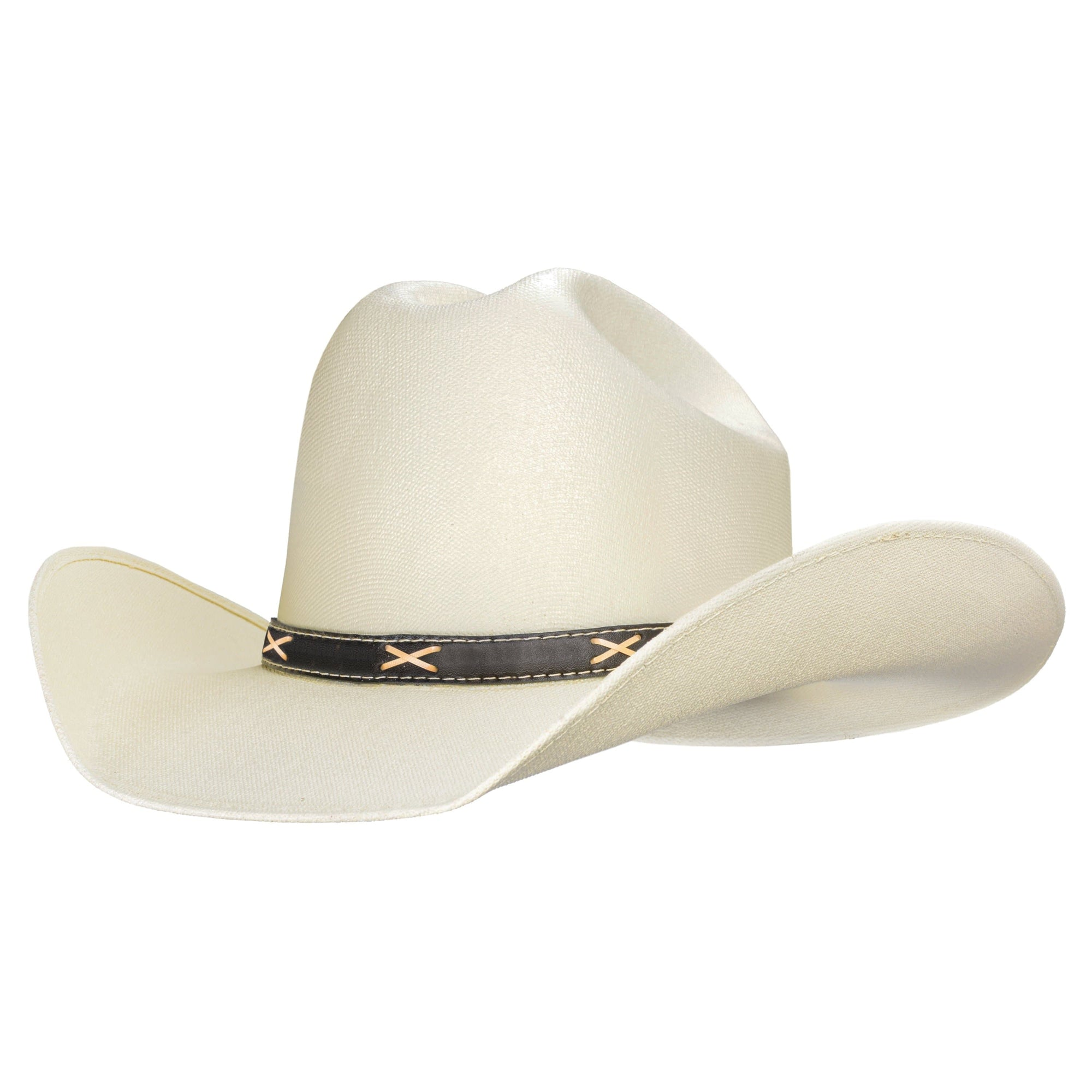 Traditional western cowboy hat style, it is also a country music cowboy hat, similar to Brad Paisley's hat. Clean this good cowboy hat with a spray of Windex.