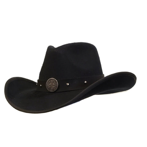Black felt cowboy hat Police hero. High quality cowboy hat, Gone Country Hats
