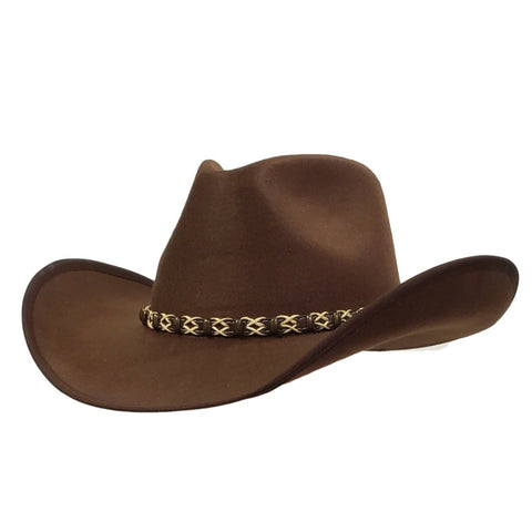 Brown felt cowboy hat. Gone Country Hats