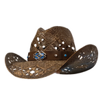 Airy woven cowboy hat for girls.