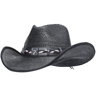 Extreme waterproof black palm cowboy hat
