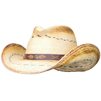 Best selling palm straw cowboy hat or cowgirl hat
