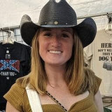 Girls wear the Tim McGraw style cowboy hat too.