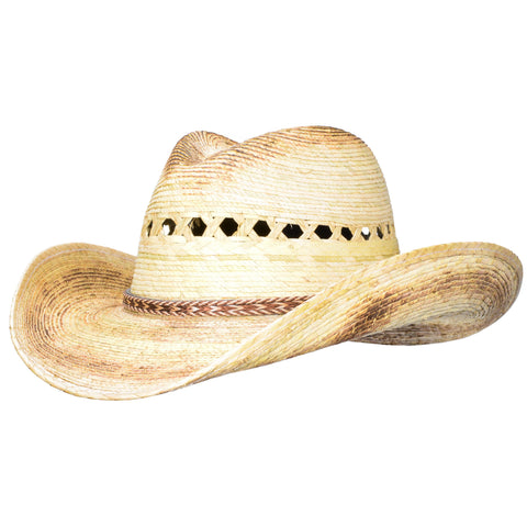 One of our best selling vented palm straw cowboy hats