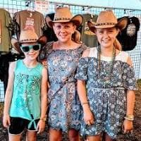 Three girls in the Buckaroo cowboy hat for girls or boys