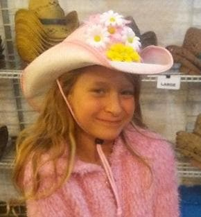 Our 2Step is a pretty pink and white cowgirl hat. Add some flowers and it's an Easter bonnet.