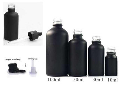 Black Essential Oil Bottles