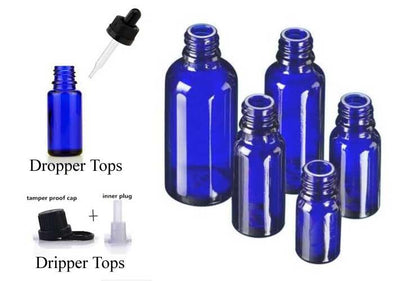 Blue Essential Oil Bottles