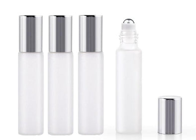Roll on Bottle 10ml Frosted Glass / refillable
