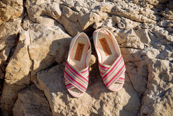 sandale rose mules anasü anasü shoes slow fashion colombie espadrille