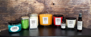 Color 16 oz Mason Jar Candles (set of 2)