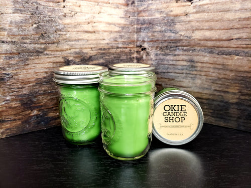 Color 8 oz Mason Jar Candles (set of 4)