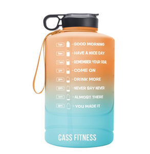 New 2.2L Motivational Water Bottle With Straw