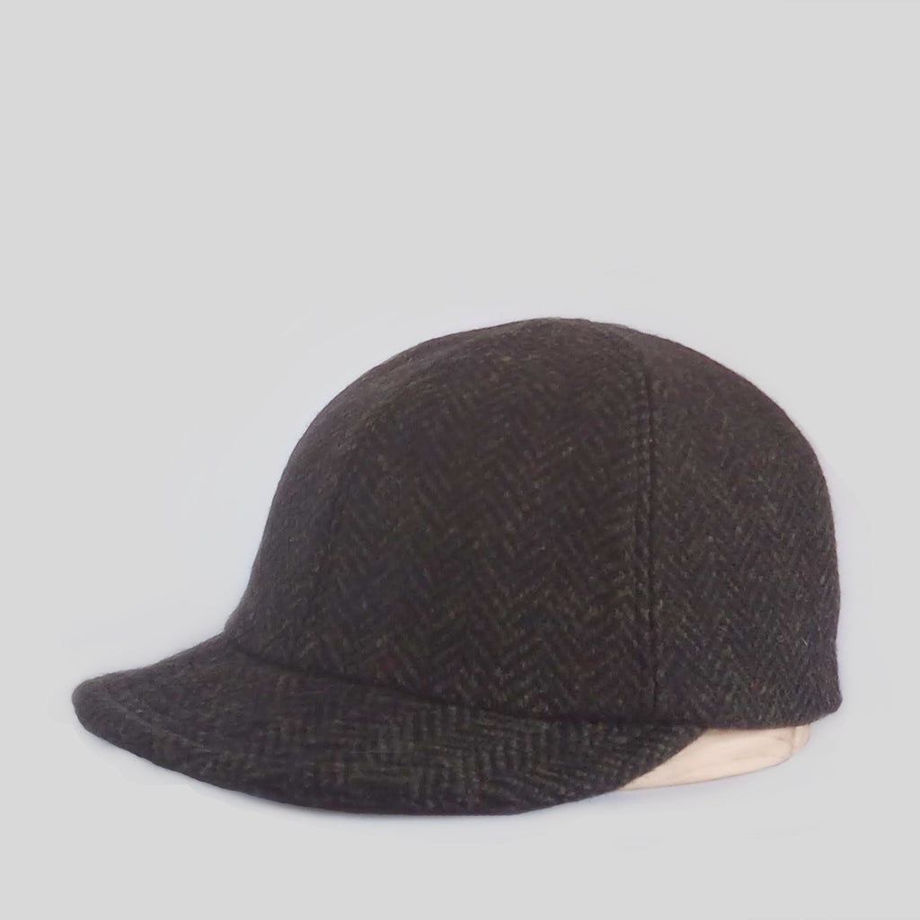 Serge Cap - Grey Tweed