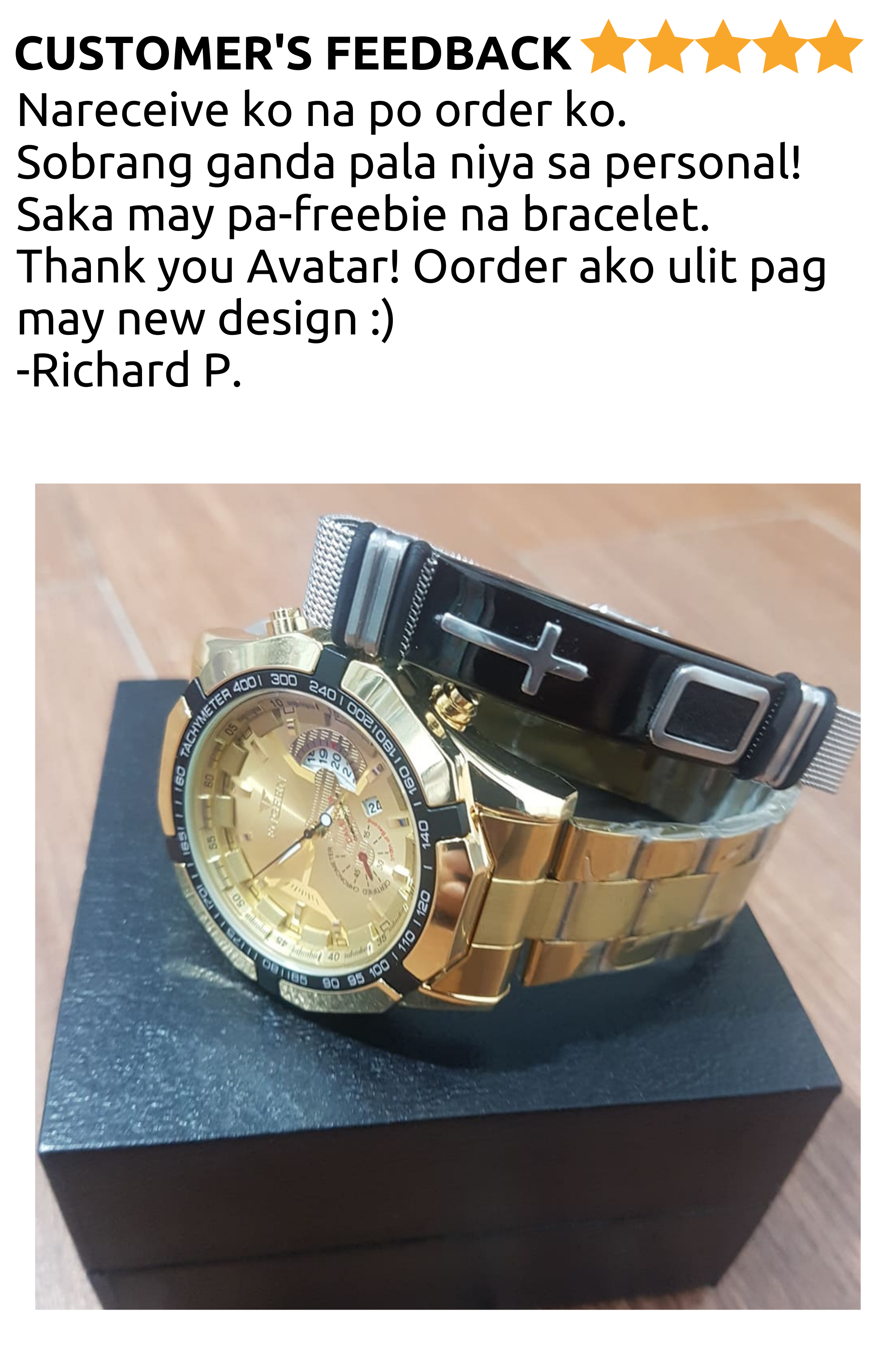 AVATAR LUXURY WATCH W/FREEBIE
