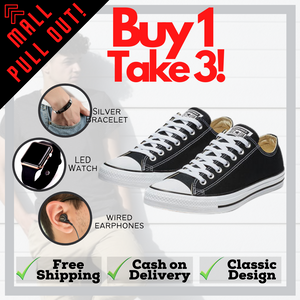 Converse Shoes w/ Free Cross Bracelet + Free LED Watch + Free AKG Earphones