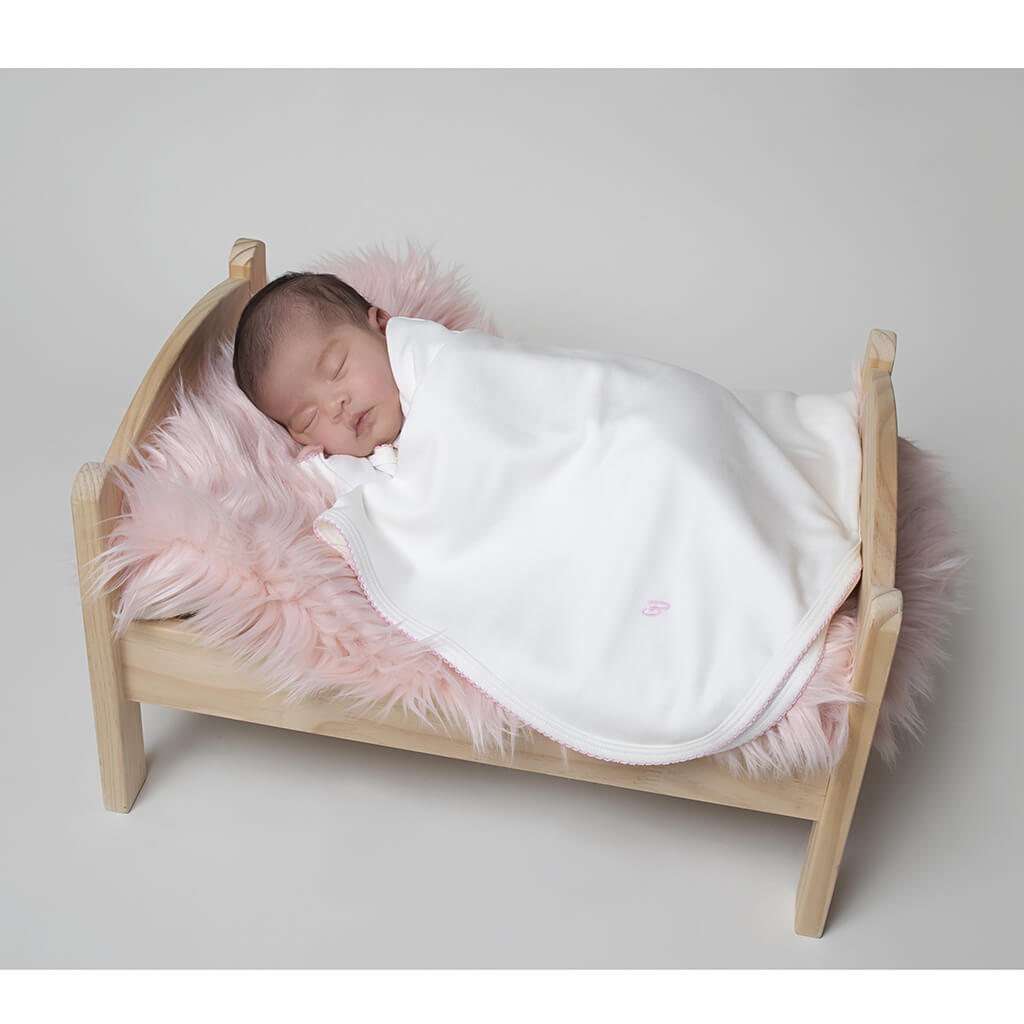 BABY GIRL - 2-Pack Organic Pima cotton Double-layer Blankets.