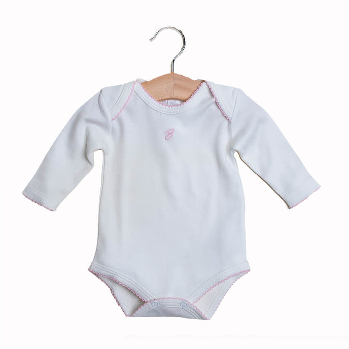 BABY GIRL - 2-Pack Organic Pima cotton Bodysuits Long sleeves