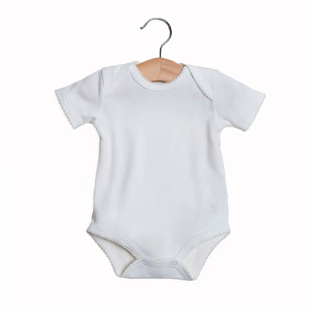 BABY NEUTRAL - 2-Pack Organic Pima cotton Baby Unisex Bodysuits Short sleeves
