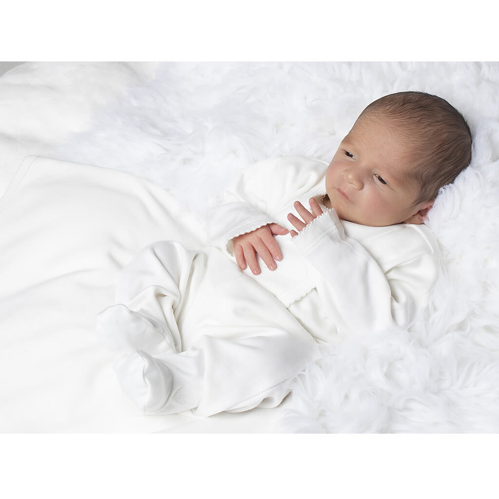 BABY NEUTRAL - 2-Pack Organic Pima cotton Baby Unisex Double-layer Blankets