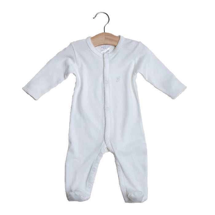 BABY NEUTRAL - 2-Pack Organic Pima cotton Baby Neutral Sleepsuits Footed