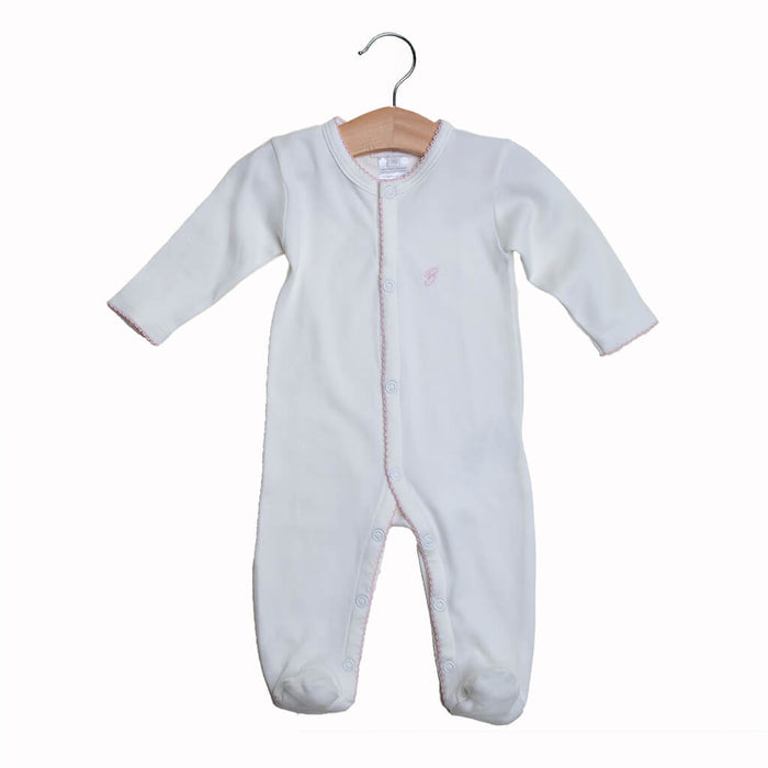 BABY GIRL - 2-Pack Organic Pima cotton Footie Sleepsuits