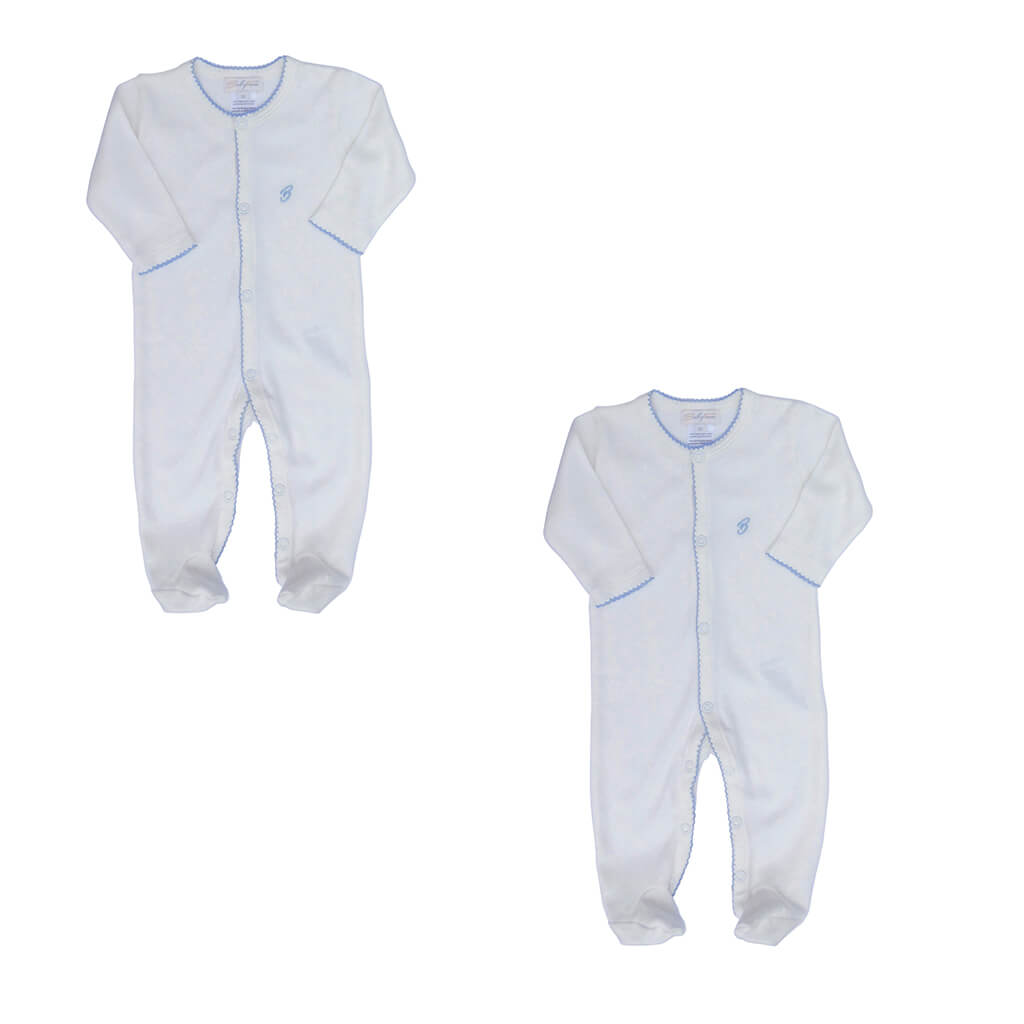 BABY BOY - 2-Pack Organic Pima cotton Footie Sleepsuits