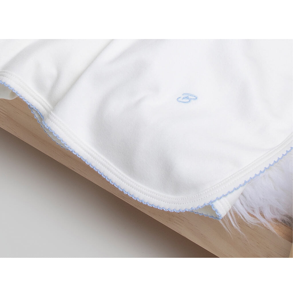 BABY BOY - 2-Pack Organic Pima cotton Double-layer Blankets