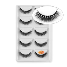 Laden Sie das Bild in den Galerie-Viewer, 5 Paar Falsche Wimpern (Fake Eyelashes) - Lumière du Soleil