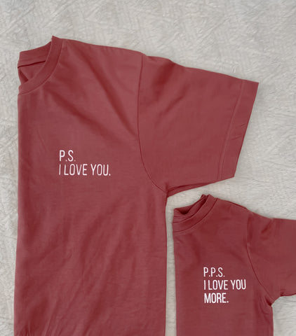 """P.P.S. I LOVE YOU MORE"" mini tee"