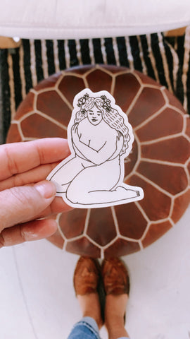 """Flower Child"" Sticker"