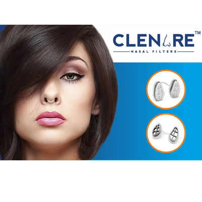CLENARE INVISIBLE NASAL FILTERS - DEFENSE AGAINST AIR POLLUTION, POLLEN & ALLERGY - Clenareindia