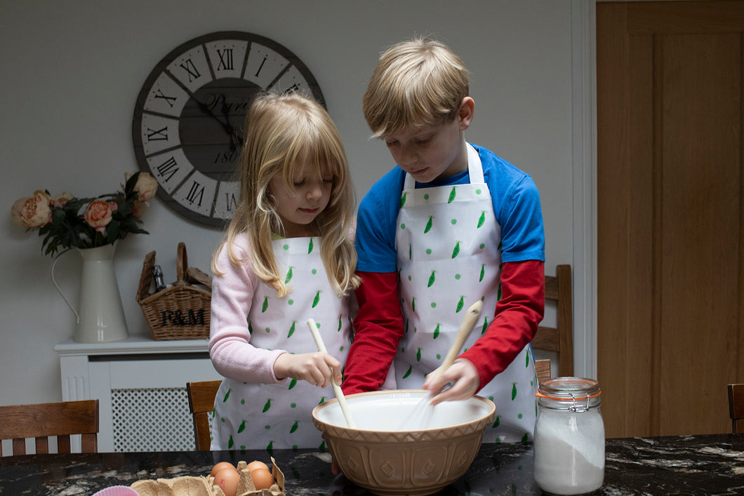 Three Peas in a Pod Children's Apron