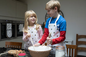 Bumble Bee children's oil cloth aprons from our homeware collections