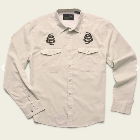 Howler Bros Guacho Snapshirt - Riverbed Oxford : Cottonmouth