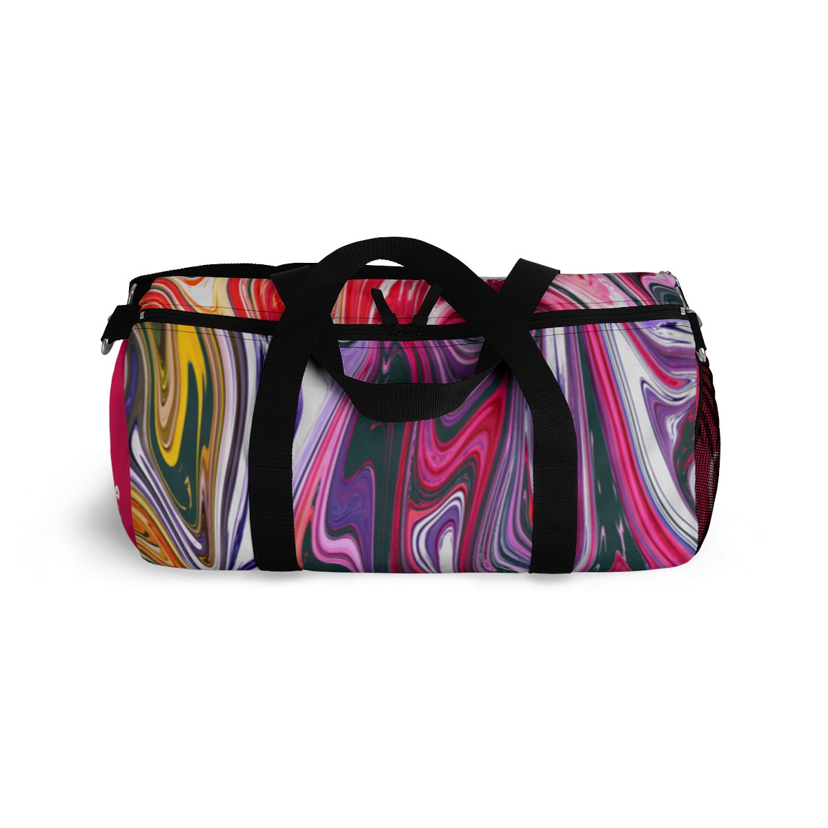 Artistry Good Vibes Duffel Bag, Red, Purple, White, Green - skyrockettees