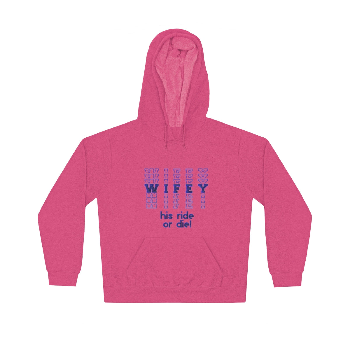 Wifey His Ride or Die Unisex Lightweight Hoodie - skyrockettees