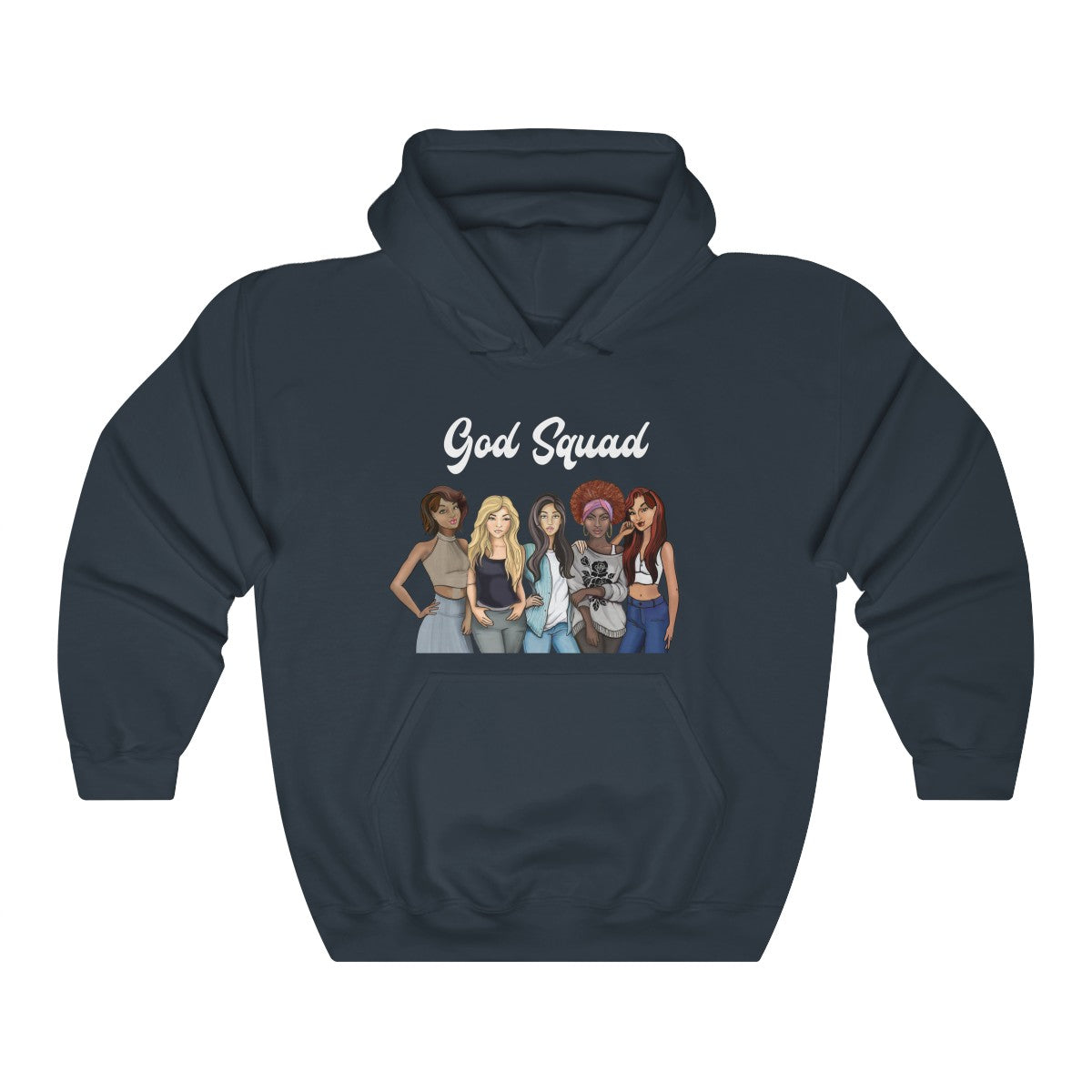 God Squad Diversity Unisex Heavy Blend™ Hooded Sweatshirt, S to 5XL - skyrockettees